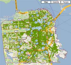 San Franciscos Urban Forest Map Calculates Value of Ecosystem