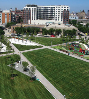 Chicago S New Angular Permeable Park The Dirt