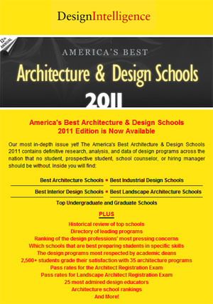 designintelligence 2011 landscape architecture program rankings