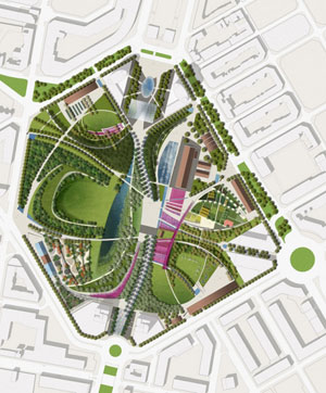 Valencia s parque central the dirt for Landscape design contest