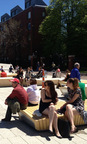 The Humble Public Bench Becomes Comfortable, Inclusive, and