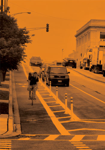 Protected cycle track (Chicago) / NACTO