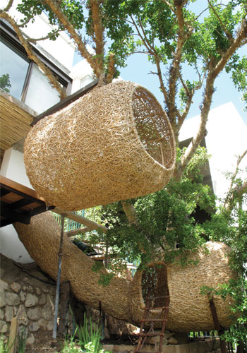 """Nettleton Road Nest."" Porky Hefer. Cape Town, South Africa. Made with kubu cane / Porky Hefer Design"