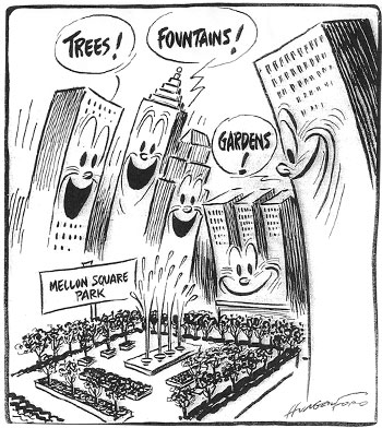 Editorial cartoon, Cy Hungerford, 1955 / Princeton Architectural Press
