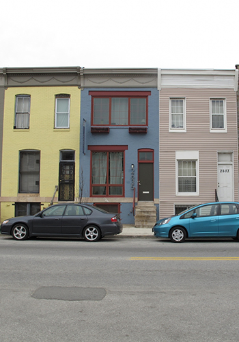 Renovated row houses at Miller's Square / Courtesy of the Bruner Foundation