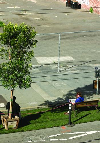 Rebar's original PARK(ing) Day in San Francisco, 2005 / parkingday.org