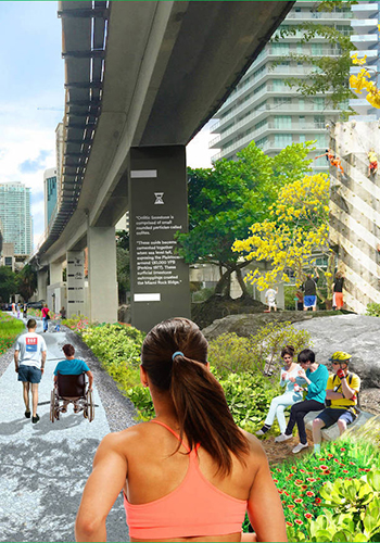 Proposal for the existing MPath near Brickell Backyard in Miami / James Corner Field Operations