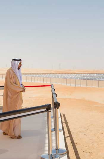 Solar power farm in Saudi Arabia / Evwind.us