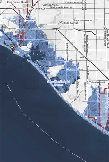 Sea level rise in Los Angeles / Climate Central