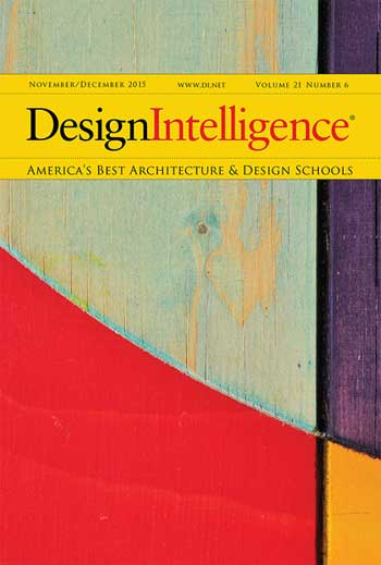 DesignIntelligence 2016 Landscape Architecture Program Rankings