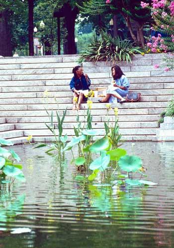 Pershing Park, Washington, DC / Photograph © Brian K. Thomson, 2015, courtesy The Cultural Landscape Foundation