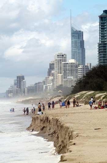 Gold Coast, Australia, beach erosion / csiro.au