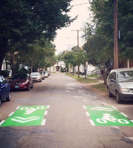 Burlington, VT bike network demonstration / Street Plans Collaborative
