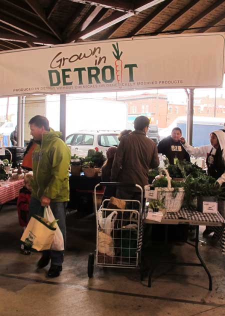 Grown in Detroit produce at Eastern Market, Detroit / Seed sow grow
