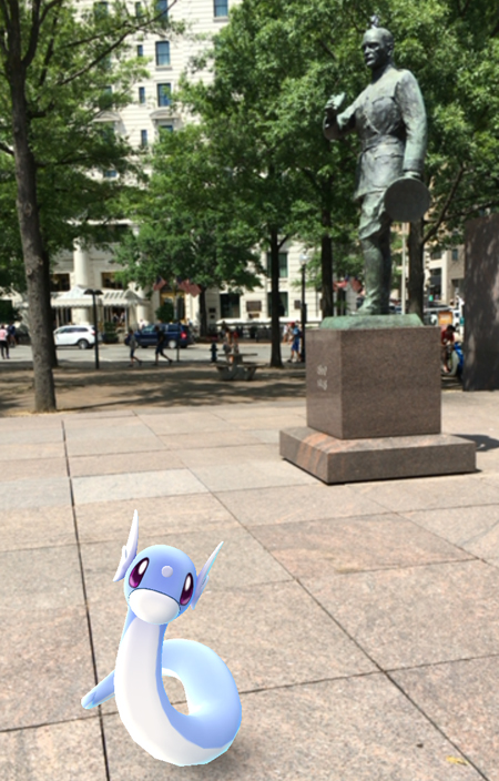 Pokémon in Pershing Park, Washington, D.C.