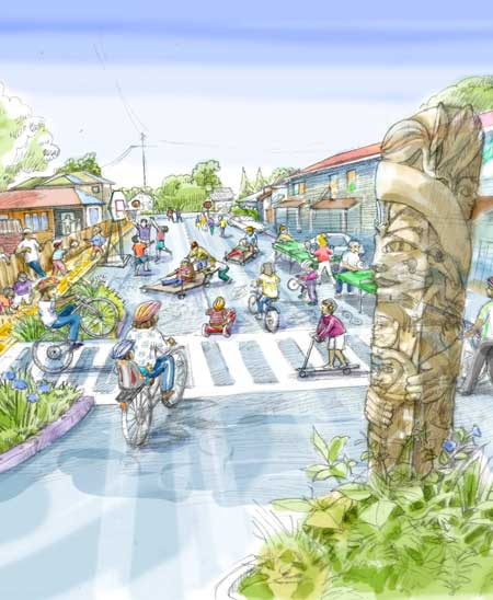 Yellow Brick Road rendering / Pogo Park