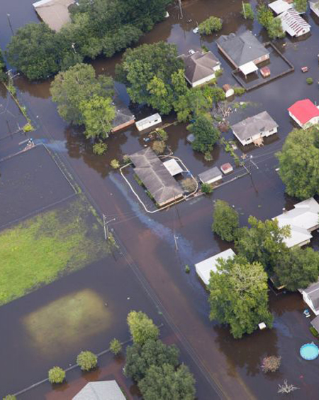 Flooded homes / Yahoo.com