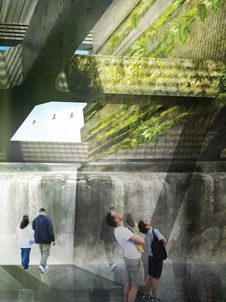 Willamette Falls Riverwalk, design rendering / Snøhetta