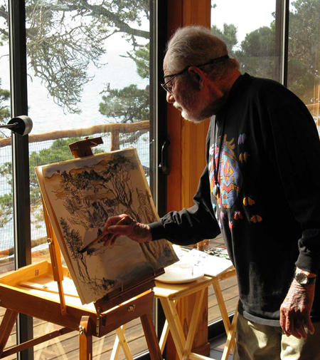 Lawrence Halprin at his residence at The Sea Ranch / Charles A. Birnbaum, 2008