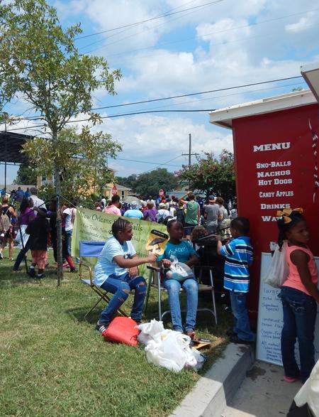 Community event in Lower Ninth Ward, New Orleans / Diane Jones Allen