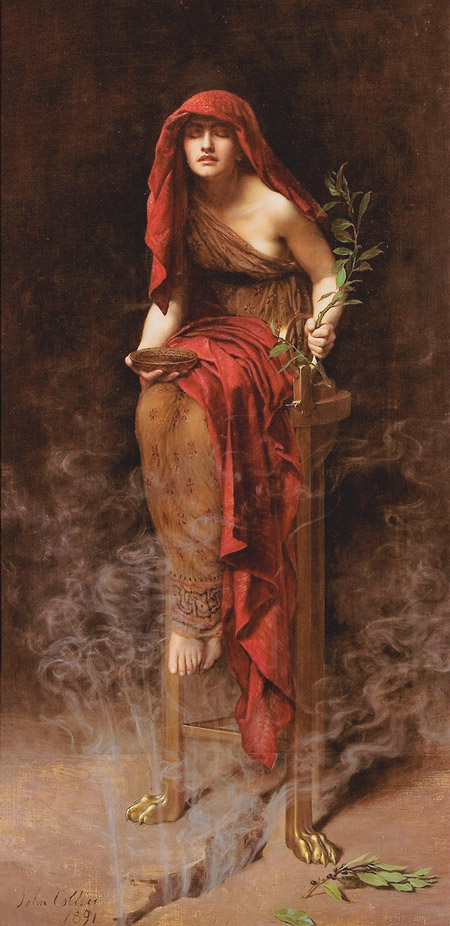 Priestess of Delphi (1891) by John Collier / Pinterest