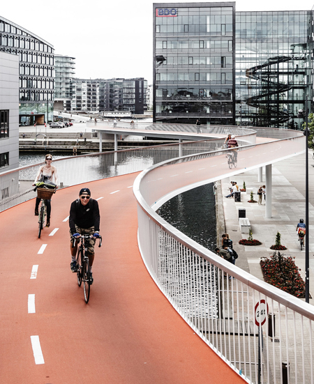 Bicycle skyway / Dissing + Weitling, Photographer: Rasmus Hjortshøj - COAST Studio