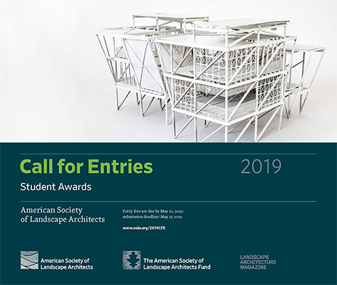 ASLA Opens 2019 Professional and Student Awards Call for